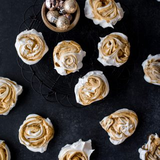Caramel-swirl-meringues-christmas-meringue-holiday-baking-festive-homemade