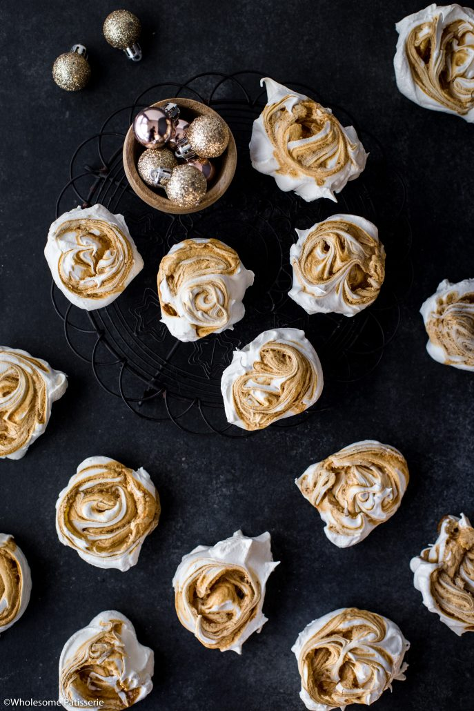 Caramel-swirl-meringues-christmas-meringue-holiday-baking-festive-homemade