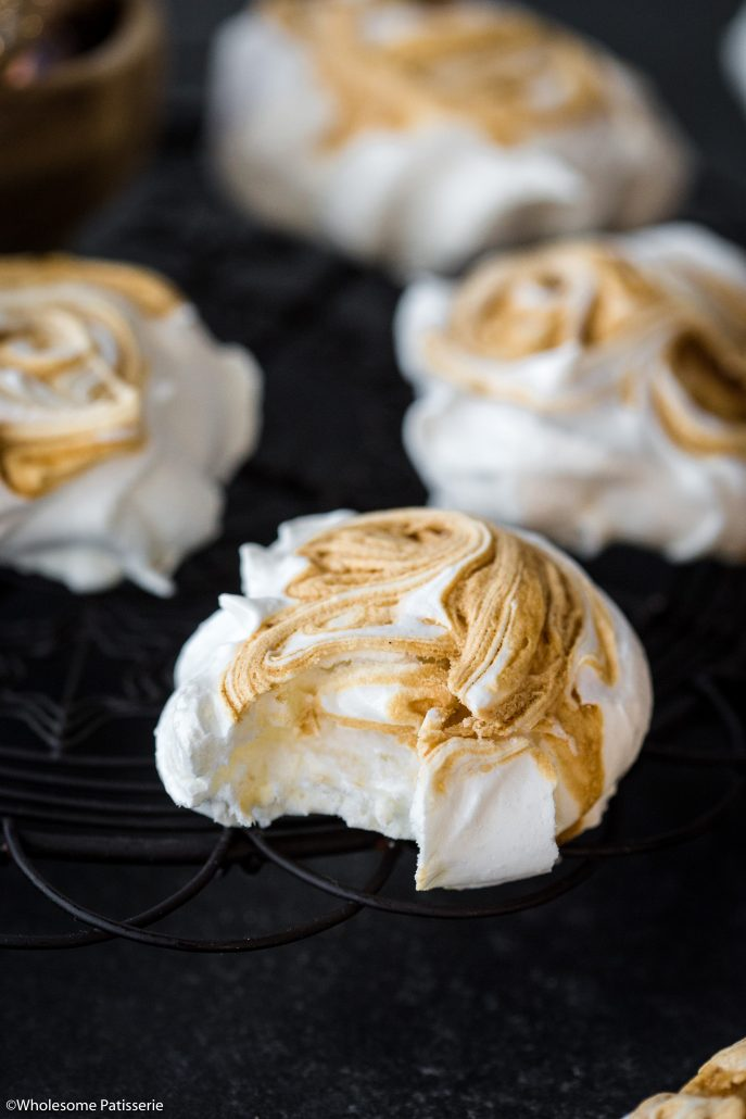 Caramel-swirl-meringues-christmas-meringue-holiday-baking-festive-homemade-festive