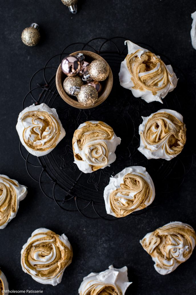 Caramel-swirl-meringues-christmas-meringue-holiday-baking-festive-homemade-family