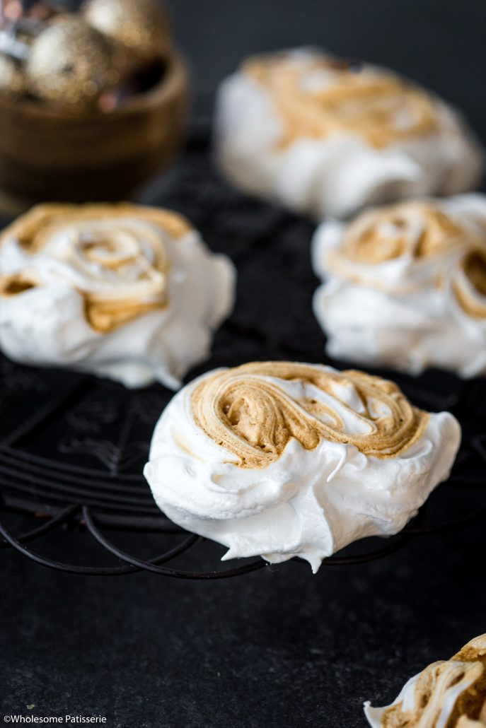 Caramel-swirl-meringues-christmas-meringue-holiday-baking-festive-homemade-festive