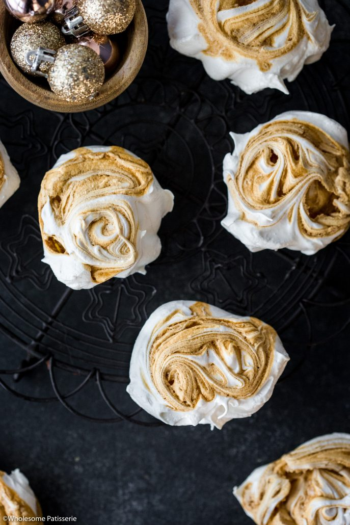 Caramel-swirl-meringues-christmas-meringue-holiday-baking-festive-homemade-holidays