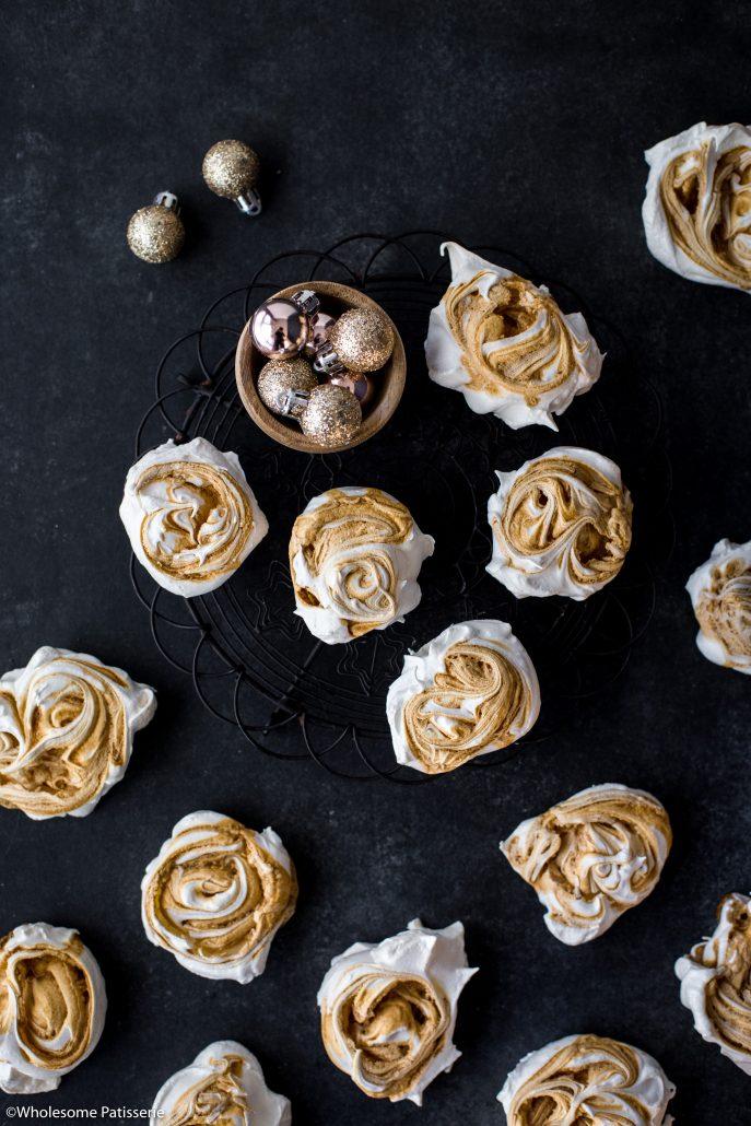 Caramel-swirl-meringues-christmas-meringue-holiday-baking-festive-homemade-kids