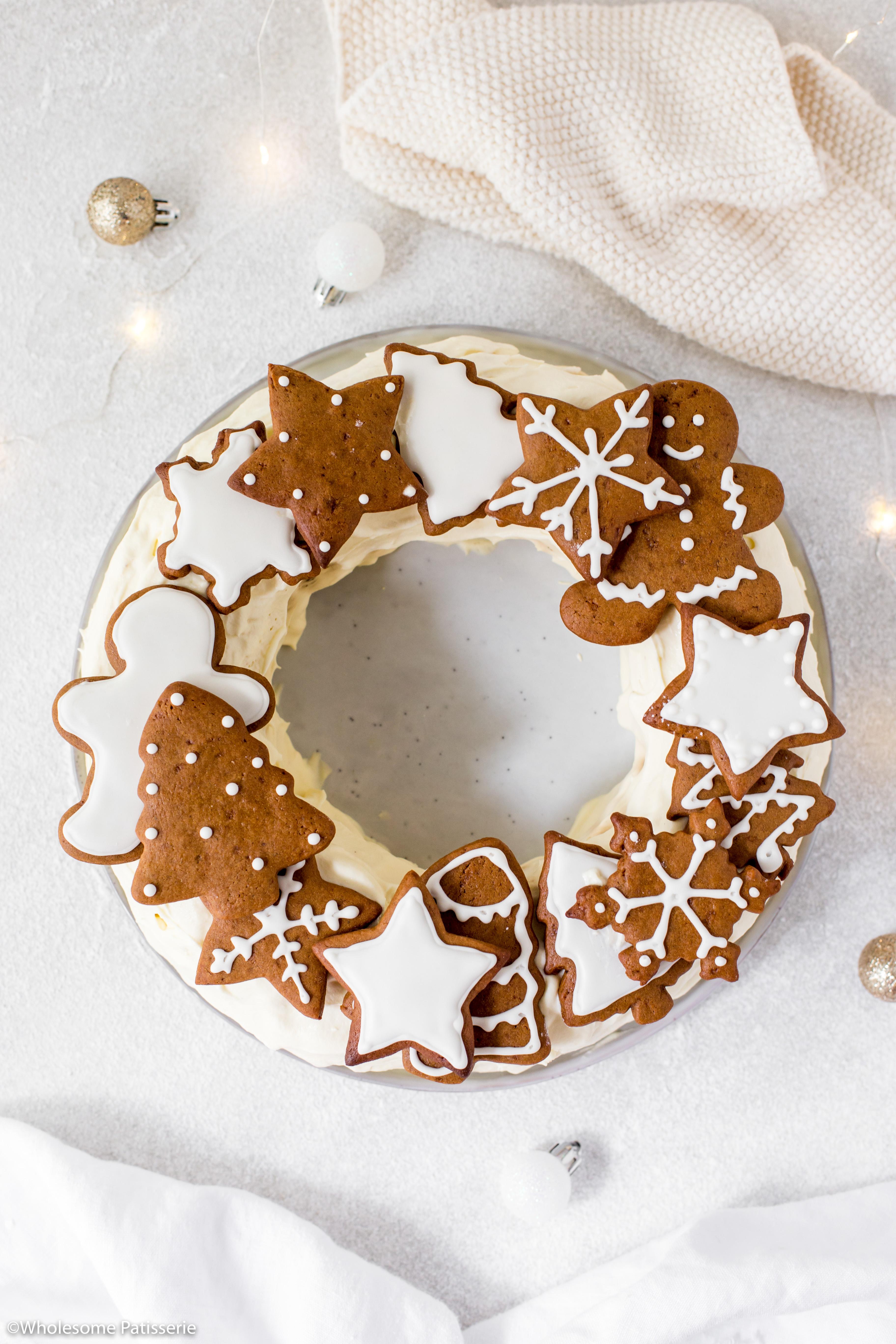 Chocolate Ripple Wreath Cake with Brandy Cream