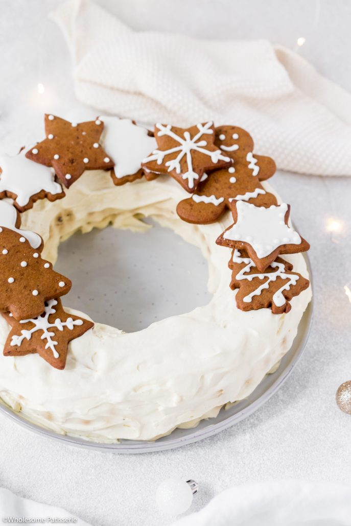 Chocolate-ripple-cake-with-brandy-cream-gingerbread-cookies-christmas-cake-holiday-cake