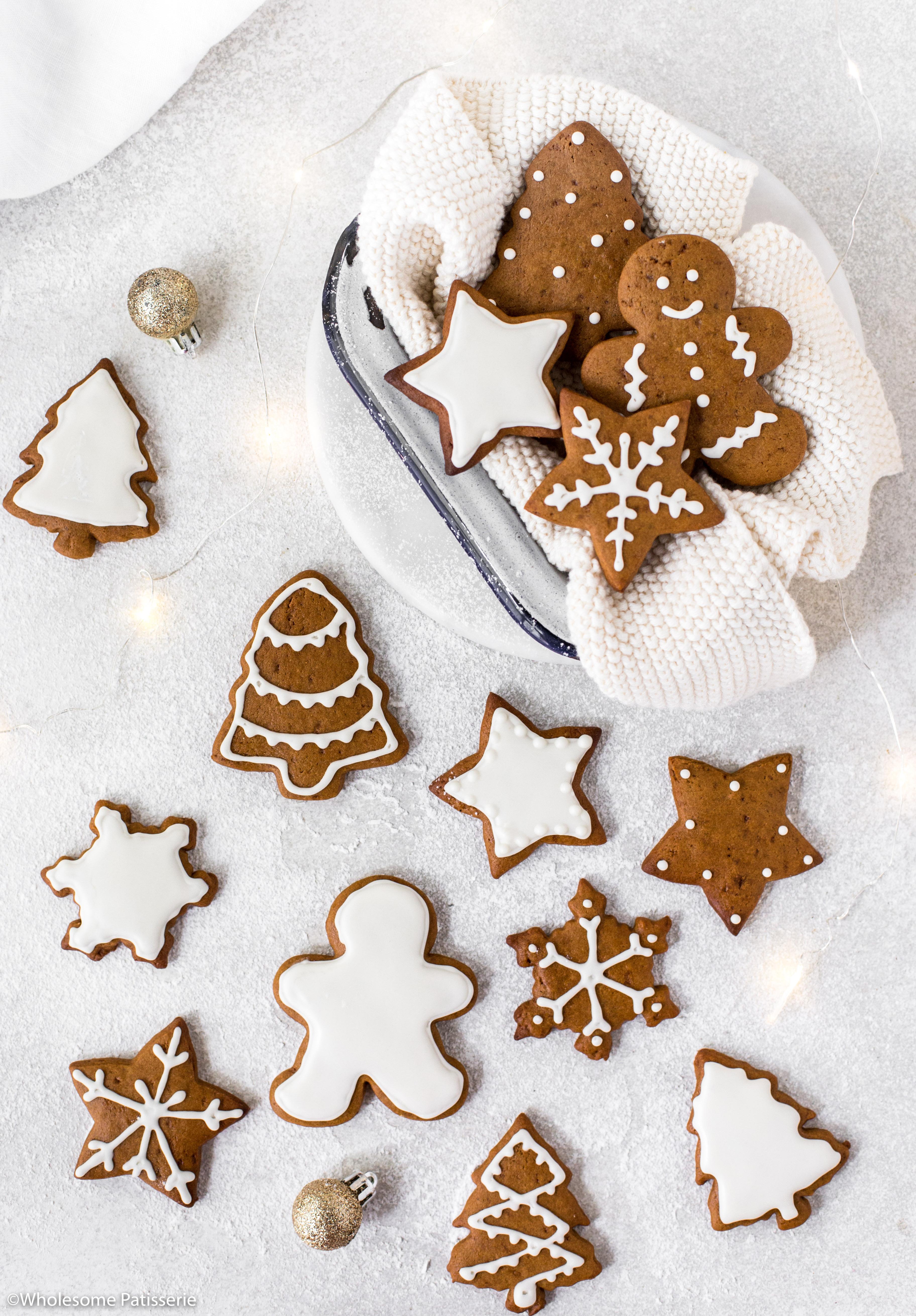 Gingerbread Cookies White Royal Icing Christmas Cookies Christmas