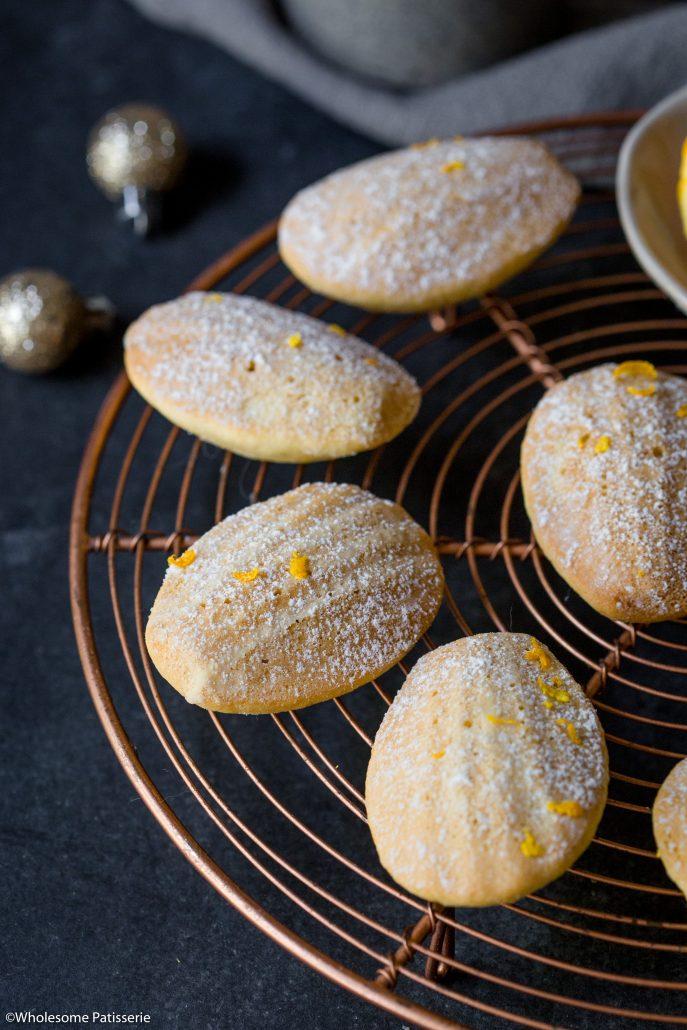 Orange-ginger-madeleines-christmas-baking-holiday-baking-gluten-free-madeleines-festive-easy-madeleines