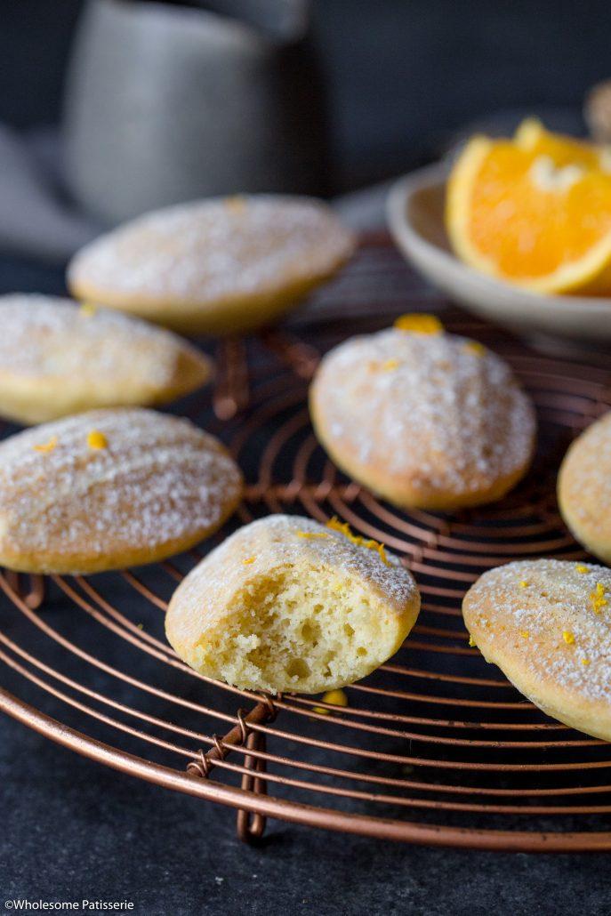Orange-ginger-madeleines-christmas-baking-holiday-baking-gluten-free-madeleines-festive-easy-madeleines-baking