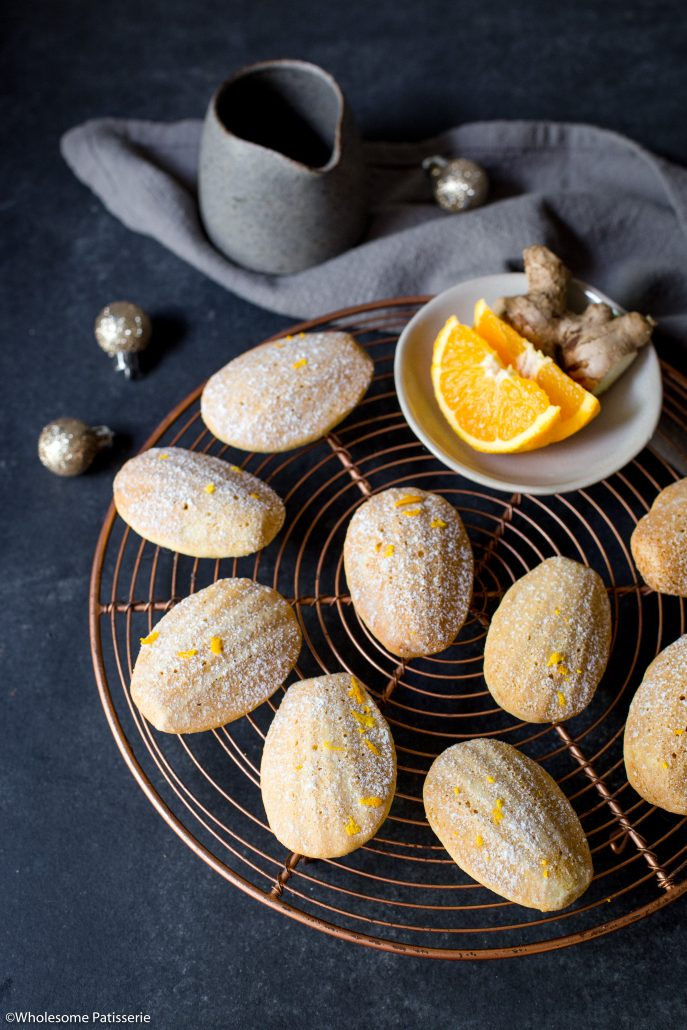 Orange-ginger-madeleines-christmas-baking-holiday-baking-gluten-free-madeleines-festive-easy-madeleines-easy