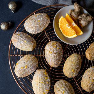 Orange-ginger-madeleines-christmas-baking-holiday-baking-gluten-free-madeleines-festive-easy-madeleines-gluten-free