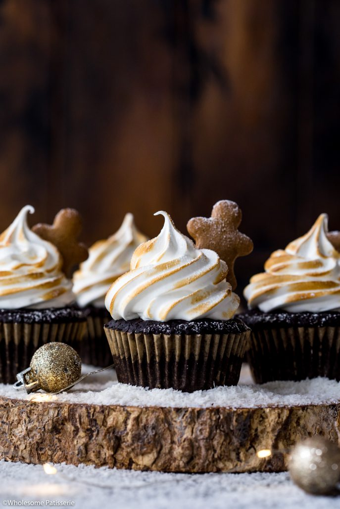 Peppermint-chocolate-meringue-cupcakes-gluten-free-cupcakes-christmas-cupcakes-holiday-baking-festive