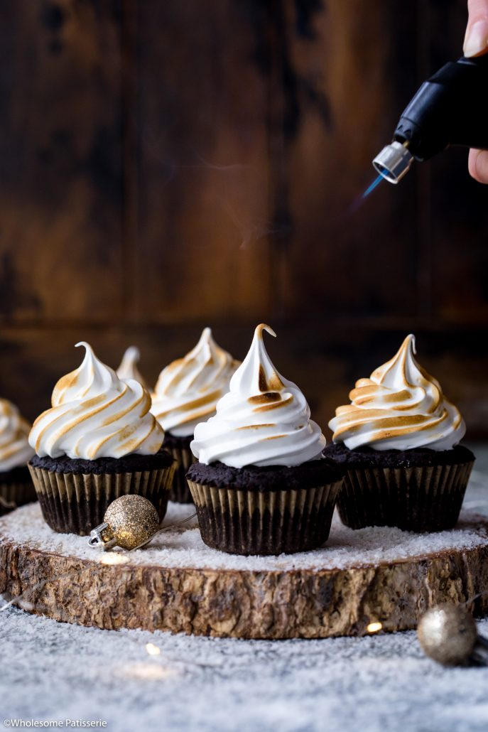 Peppermint-chocolate-meringue-cupcakes-gluten-free-cupcakes-christmas-cupcakes-holiday-baking-festive-delicious