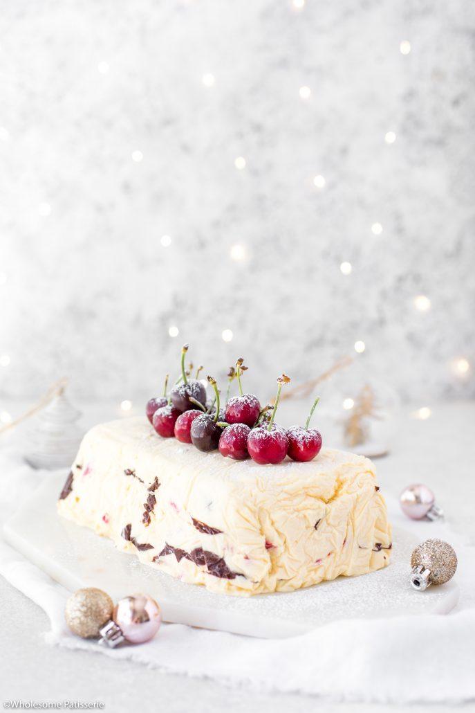 Raspberry-chocolate-semifreddo-dessert-cake-ice-cream-christmas-dessert-holidays-fruit
