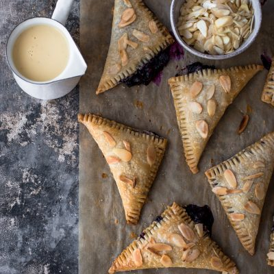 Blueberry Turnovers with Crème Anglaise