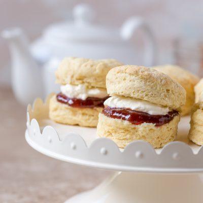 Homemade Scones with Jam & Cream