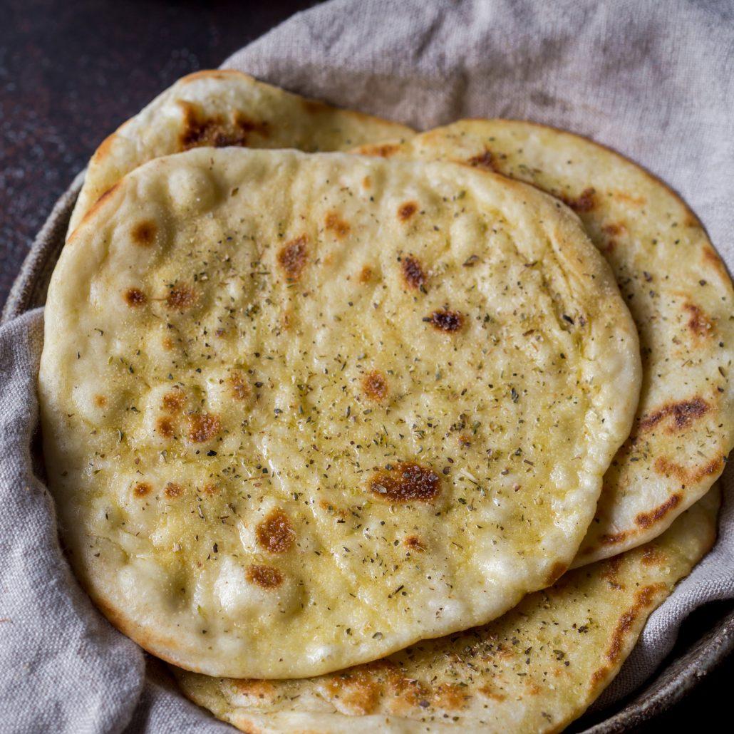Homemade garlic and herb flat bread recipe