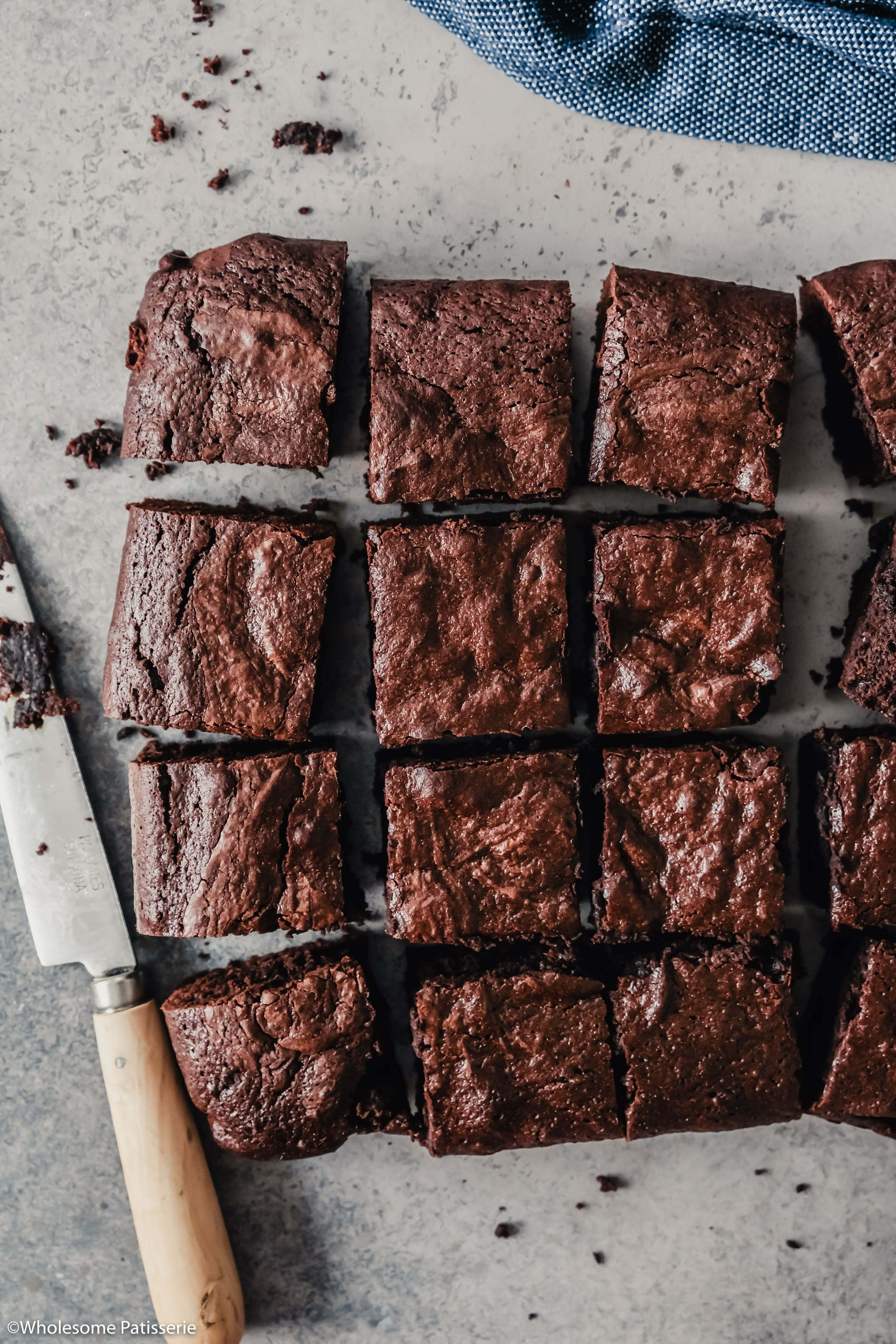 Gluten Free Classic Chocolate Brownies! These homemade brownies are rich, thick and free from gluten. A touch of coffee enhances the flavour of the cocoa making these brownies incredibly delectable!