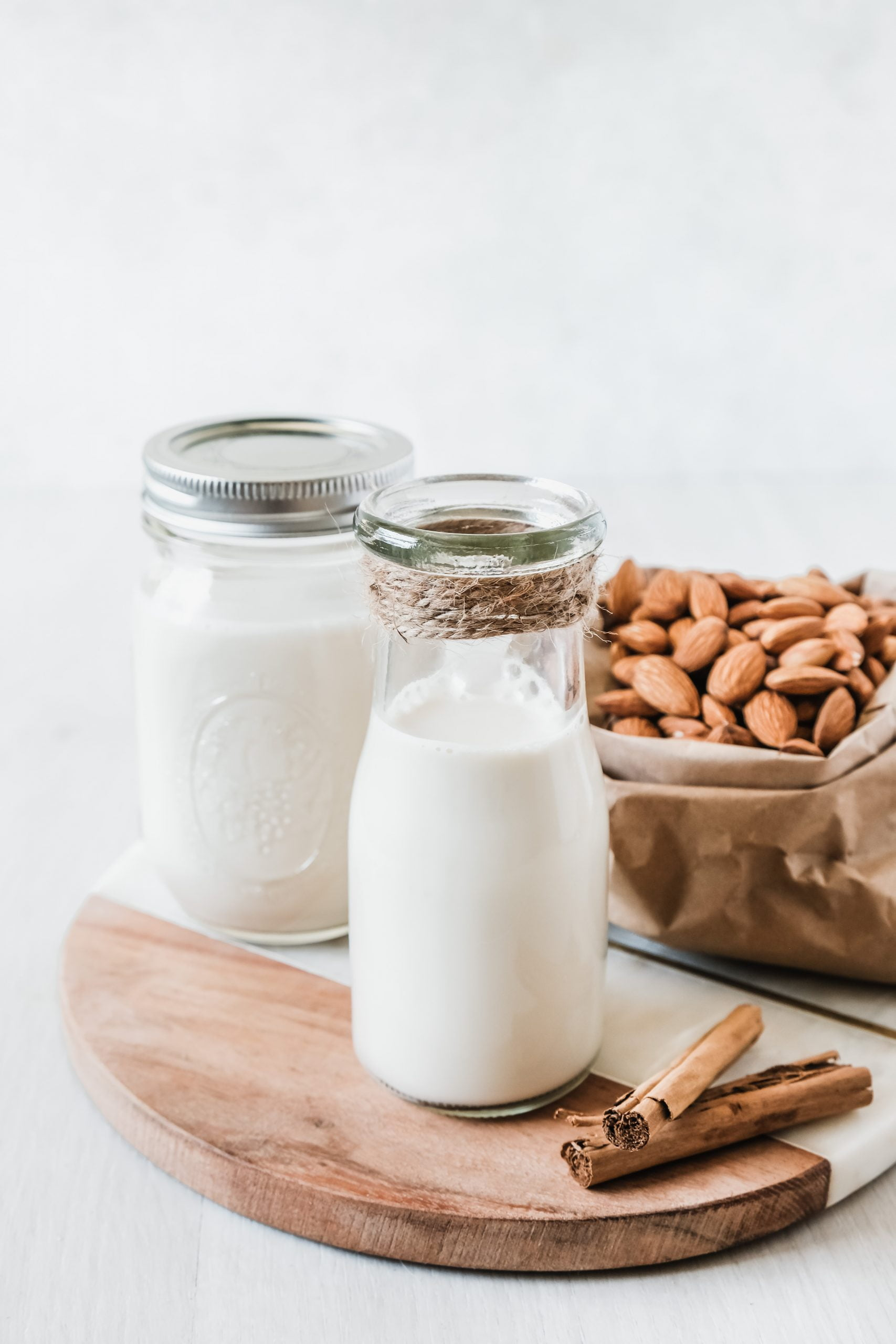 Homemade Almond Milk with Cinnamon