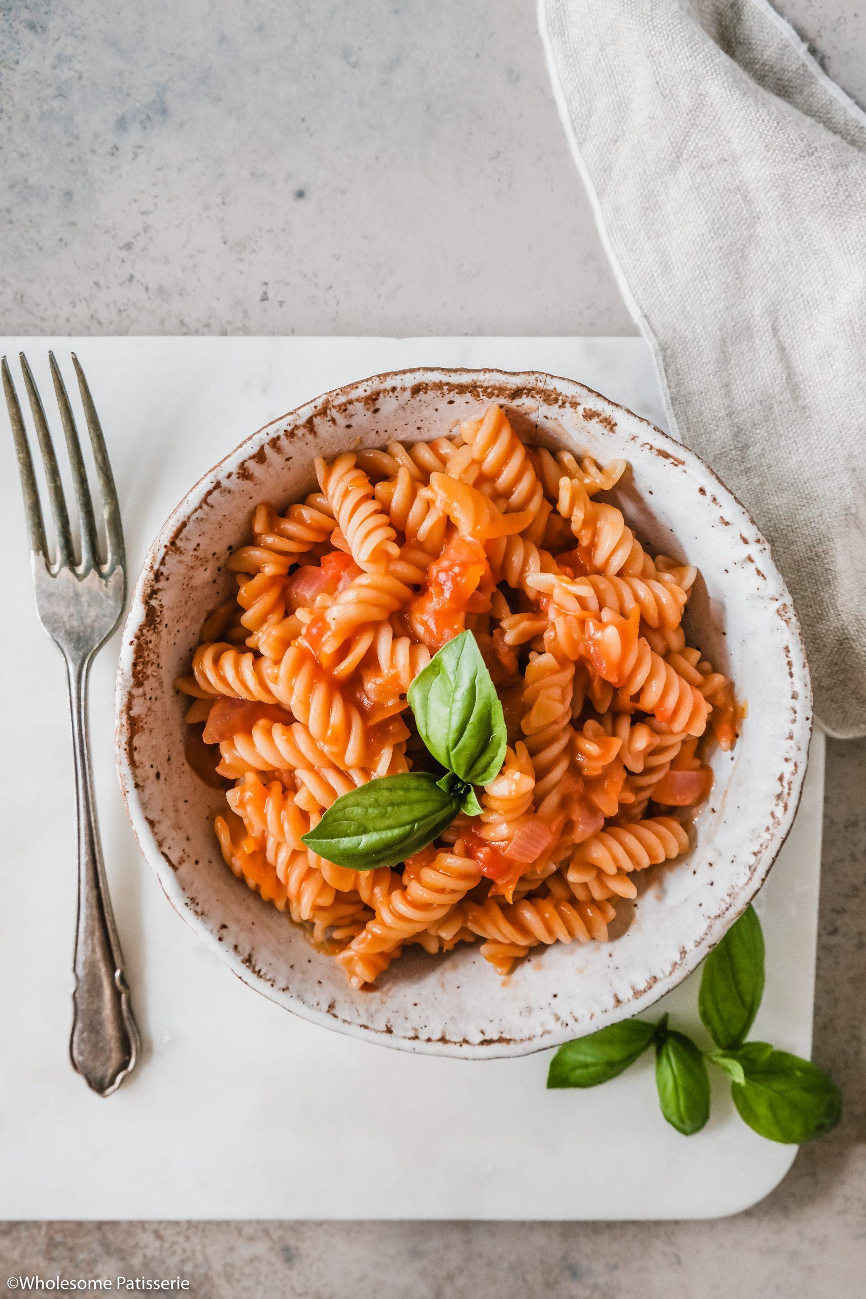 Quick Creamy Tomato Pasta
