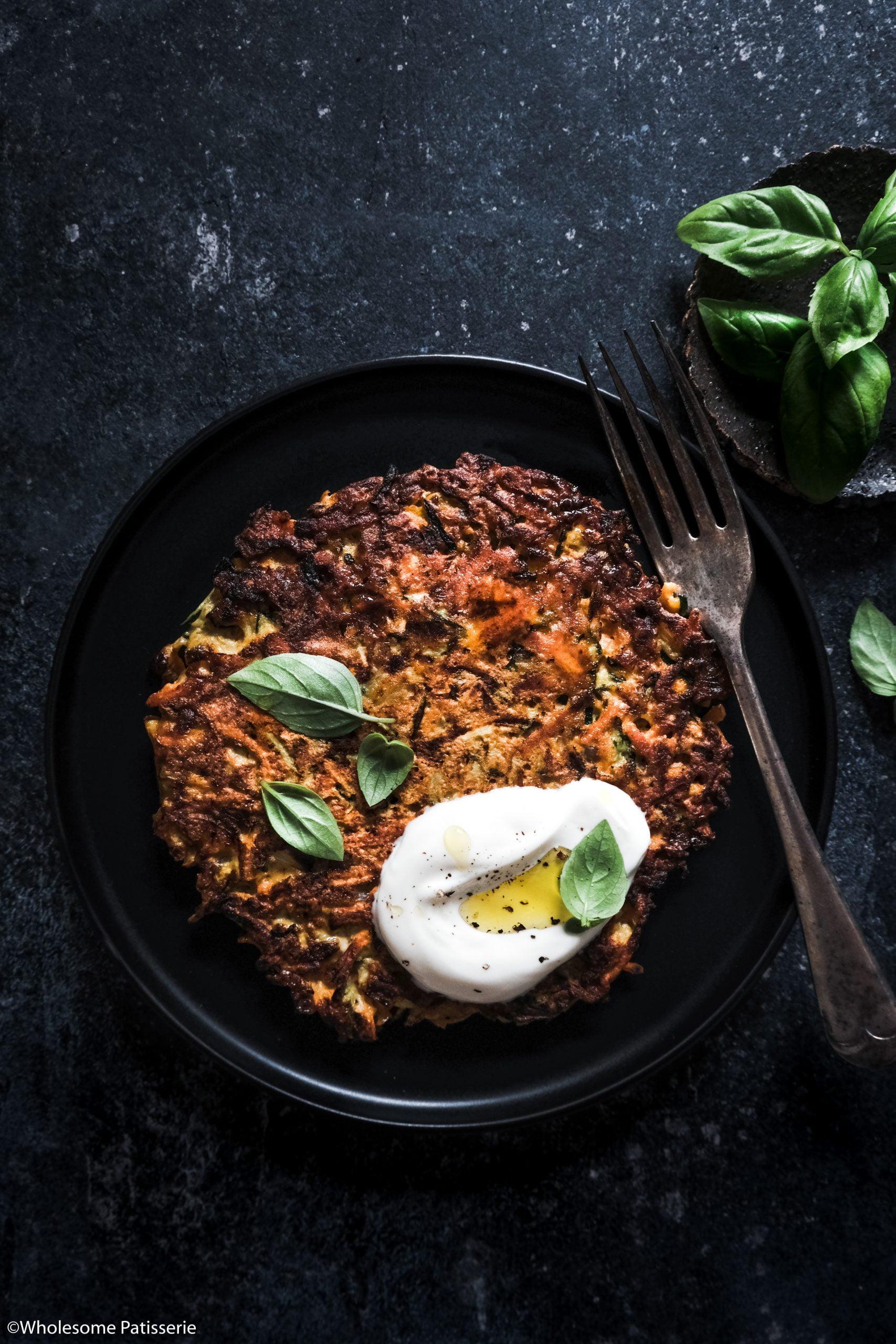 Carrot & Zucchini Pancake Fritters