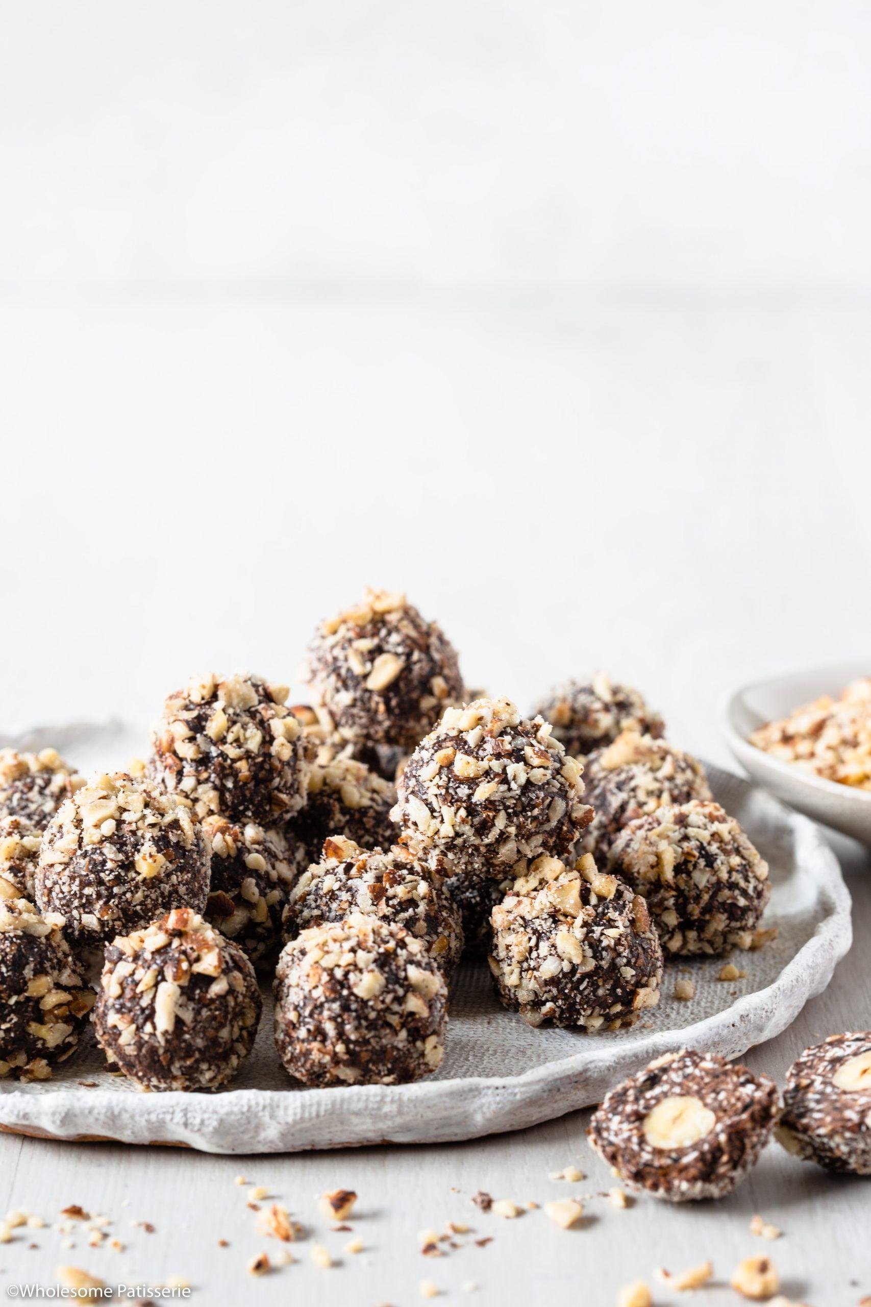 Hazelnut Chocolate Bliss Balls