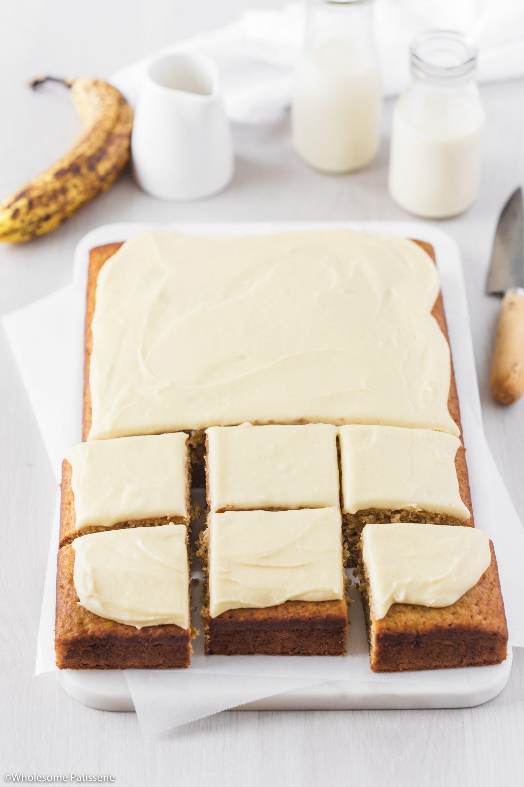 Classic Banana Cake with Vanilla Buttercream