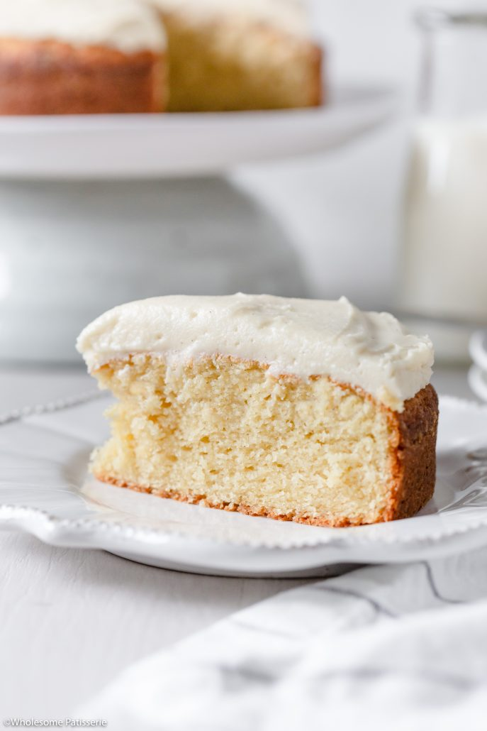 Basic Vanilla Cake! A simple yet flavoursome vanilla butter cake that is created in one bowl. Paired with a fluffy vanilla infused buttercream frosting. Consider this your go-to basic vanilla cake recipe that can be dressed up with different flavoured frostings of your choice.