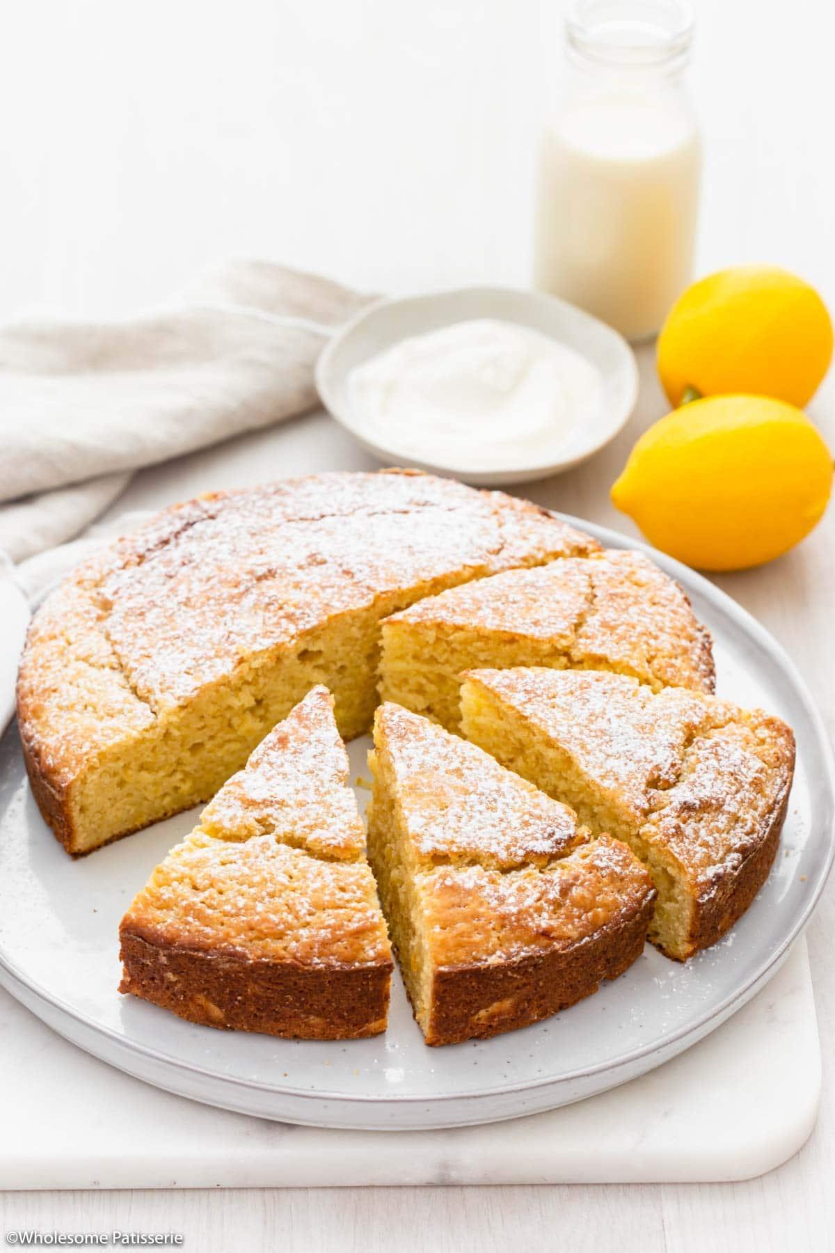 Finished shot of lemon yoghurt cake